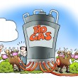Foto de Stock  : Cows convert biogas to fuel