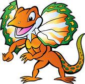 Hand-drawn Vector illustration of an Lizard in colorful splendor — Stock Vector