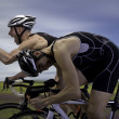 Stock Photo: Finish a mountain bike race