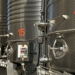 Stainless steel reservoirs for wine — Stock Photo