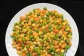 Plate of mixed vegetables — Stock Photo