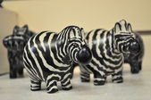 Zebras on the shelf — Stock Photo