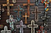 Crosses on the wall — Stock Photo