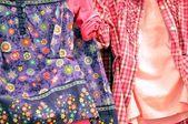Dresses texture.Dresses for children. — Stock Photo