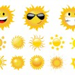 Set of sun vector — Stock Photo #5904343