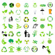 Vector set of environmental / recycling icons — Foto Stock