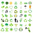 Vector set of environmental / recycling icons — Stok fotoğraf