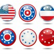 Stock Photo: Patriotic buttons