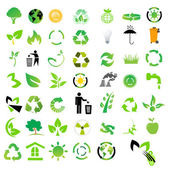 Vector set of environmental / recycling icons — 图库照片