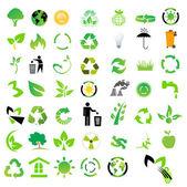 Vector set of environmental / recycling icons — Stock Photo