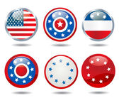 Patriotic buttons — Stock Photo