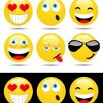 Постер, плакат: Set of characters of yellow emoticons