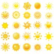 Set of sun vector — Stock Photo #5963953
