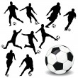 Soccer players — Stock Photo