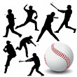 Baseball player vector — Stock Photo