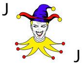 Joker playing card — Stock Photo