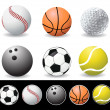 Vector illustration of sport balls — Stock Photo