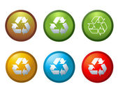 Vector recycle buttons icons symbols illustration — Stock Photo