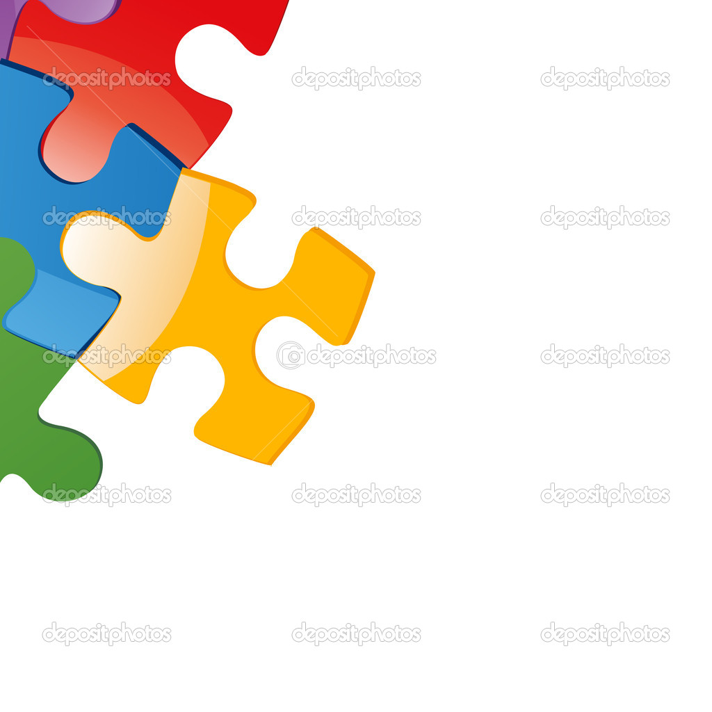 Vector illustration of puzzle pieces  — Stock Photo #6423853
