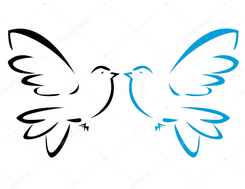 картинка голубь мира распечатать
