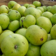 Green apples in transport box — Stock Photo #5886891