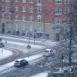 Stock Photo: Snow and traffic