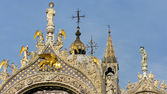 Detail of st. mark basilica venice — Foto Stock