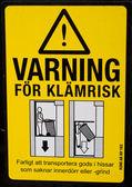 Swedish danger sign — Стоковое фото