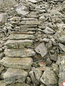 Loose stone stairs background — Stock Photo