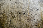 Detail of a old map — Stock Photo