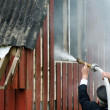 Stock Photo: Small fire in house