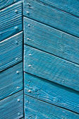 Blue wall of an old house — Stock Photo