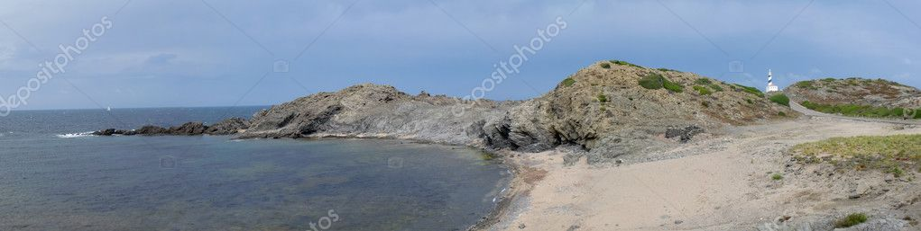 View of Favaritx beach in Menorca, Balearic Islands, Spain — Stock Photo #6285405