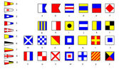 International marine flags — Stock Photo