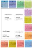 20120 calendar — Stock Vector