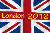 London 2012 flag — Stock Photo