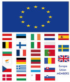 EU or UE flags — Stock Vector