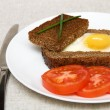 Fried  sunny-side-up egg — Stock Photo