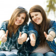 Portrait of two young teenagers — Stock Photo