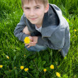 Boy with dandelion — Stock Photo #5966726