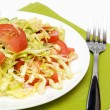 Cabbage salad with tomato — Stock Photo