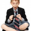 Surprised boy with cell phone — Stock Photo #6033575