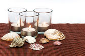 Velas com conchas do mar — Foto Stock