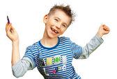 Neşeli çocuk gülümseyen — Stok fotoğraf