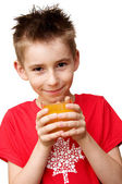 Boy ready to drink — Stock Photo