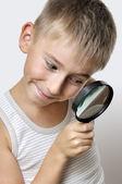 Roztomilý mladý výzkumník — Stock fotografie