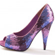 Stock Photo: Glitter high heel stilettos shoe