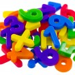 Assorted Numbers and Mathematical Symbols - Stock Photo