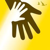 Hand in hand — Stock Vector