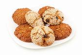 胡麻オートミール クッキー — ストック写真